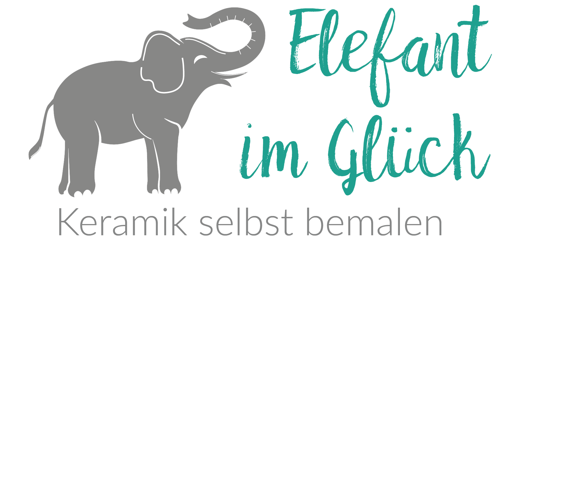 Elefant im Glück - Keramikmalatelier Logo